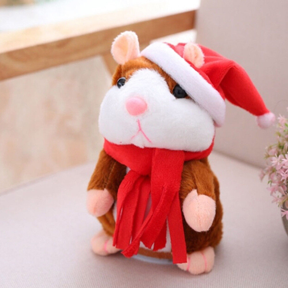 2018 New Cheeky Hamster Electric Talking Walking Pet Christmas Toy Speak Record Hamster Gift 2018 talking hamster mouse pet plush toy learn to speak electric record hamster educational children stuffed toys gift 15cm