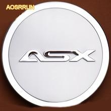 AOSUUUN Декоративные наклейки для крышки, Модифицированная крышка топливного бака из нержавеющей стали, автомобильные аксессуары для Mitsubishi ASX 2011