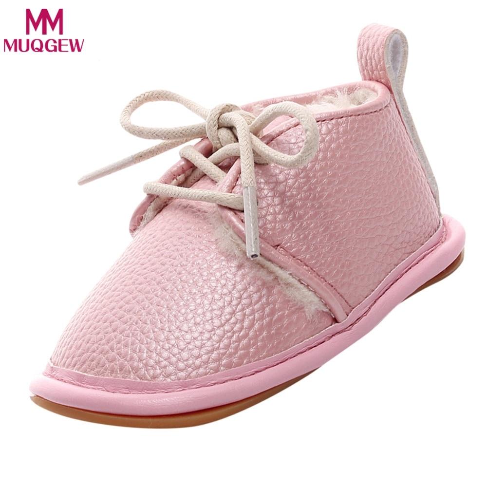 013adaa748fd 2018 Winter Baby Boy Girl Soft Shoes Soft Soled Non-slip Footwear Crib Shoes  Newborn