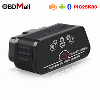 100 V1 5 ELM327 Obd2 Bluetooth Adapter Scanner Elm 327 V 1 5 With Pic18f25k80 For