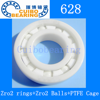 628 full Ceramic bearing 8x24x4 mm Zirconia ZrO2 Ceramic ball bearings