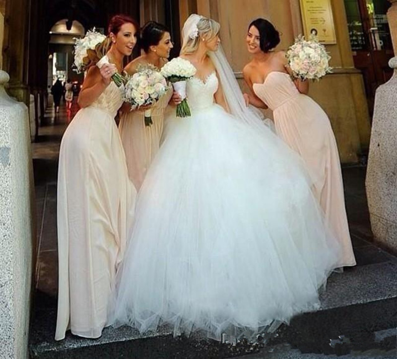 Very Puffy Tulle Wedding Dress
