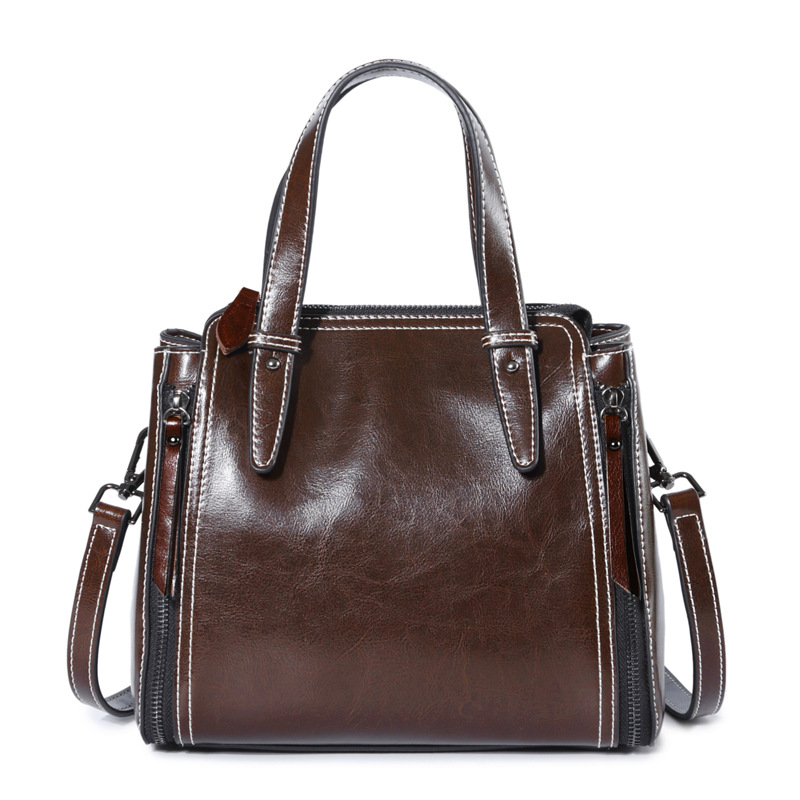 Genuine Leather Totes Female Shoulder Crossbody Bags For Women Leather Handbag Ladies Messenger Bag Large Top-handle Bag C519 genuine leather shoulder bags for women large capacity messenger crossbody bag female leather tote bag ladies handbag