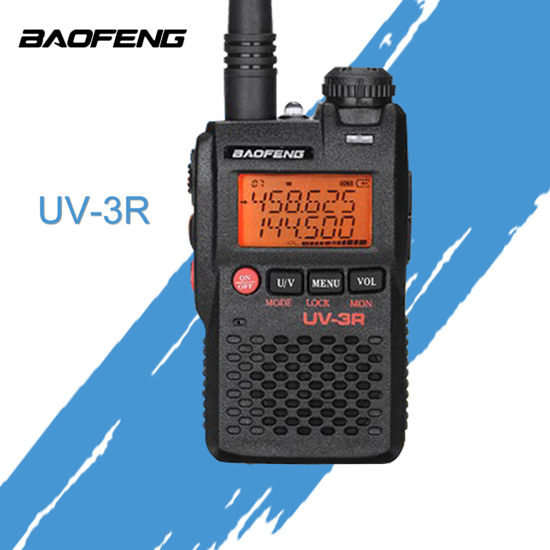 Baofeng UV-3R Walkie Talkie Mark 136-174/400-470 MHz Dual Band Two Way Radio Doppia Frequenzy Display Due Vie Radio CB Ham Radio