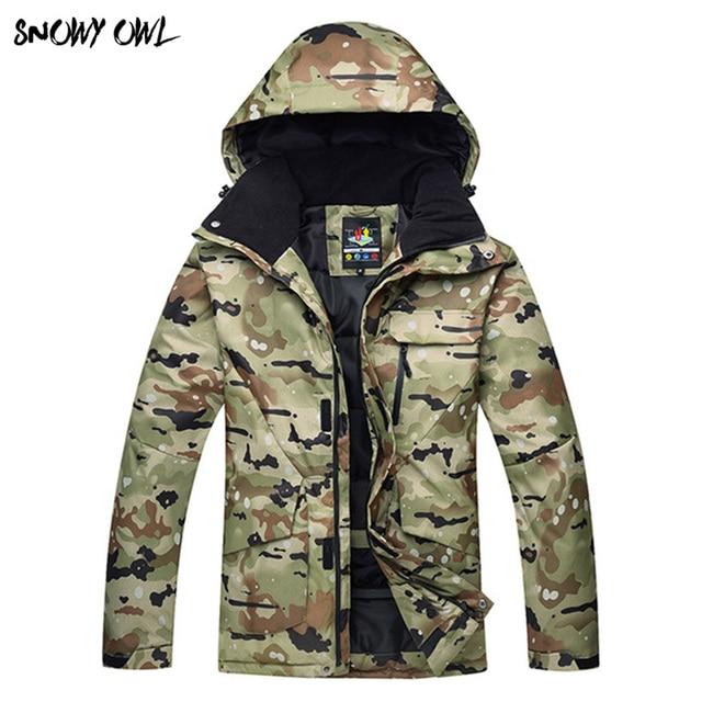 Inverno Giacca Da Sci Cappotto di Snowboard Uomini Antivento Impermeabile Da  Neve camouflage Giacca di sci 085b83d3440