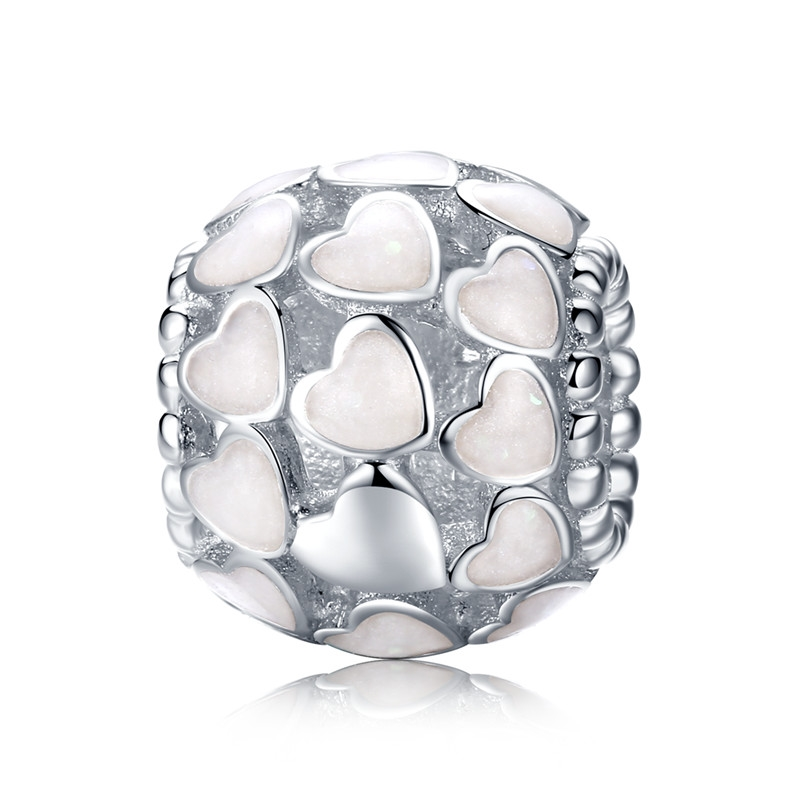2018 Hot 100% 925 Sterling Silver Full Of Love Heart Bead Fit - Bisutería - foto 2