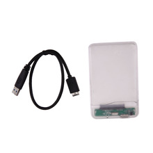 Portable USB 3.0 to SATA 2.5″ inch HD Enclosure Case PC External Data Storage Box Caddy up to 5Gbps Transparent