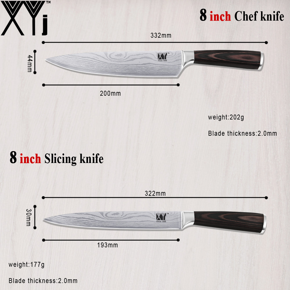 Top Rank Stainless Steel Knife Chinese XYJ Brand 5 Pieces Kitchen ...