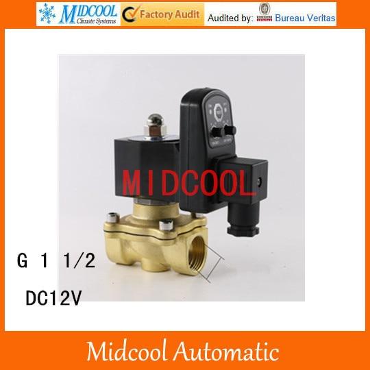 Electronic drain valve automatic drain G1 1/2 DC12V brass solenoid valve ETD 3924450 2001es 12 fuel shutdown solenoid valve for cummins hitachi