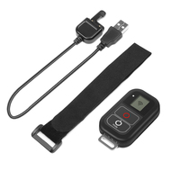 FGHFG 0.8 Inch Waterproof Wireless Wifi Remote Control for Gopro Hero 5 6 4 3+/3 with USB Charger Cable Remote Go pro Accessory