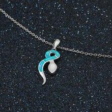 Женское ожерелье из серебра 925 пробы с подвеской в виде маленькой