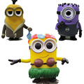 Funko POP Despicable Me Minions Hula Minion Bored Silly Kevin 166# purple Carl PVC Figure Collectible Model Toy 10cm kids toys