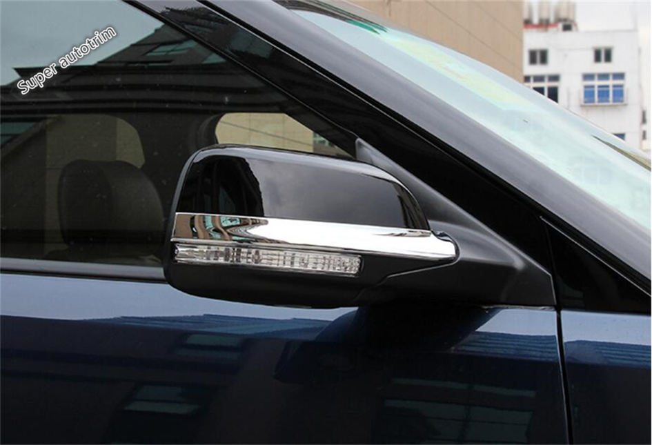 Lapetus For Ford Explorer 2011 - 2018 ABS Chrome Side Rearview Mirror Rubbing Strip Cover Trim 2 Piece
