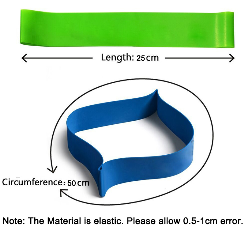 100 Natural Latex Loops Pilates Home Gym Strength Resistance Bands Crossfit Sports Physical Therapy Training Expander Elastic in Resistance Bands from Sports Entertainment