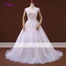 fsuzwel Melice Wedding Dresses 2019 Cap Sleeve A-Line