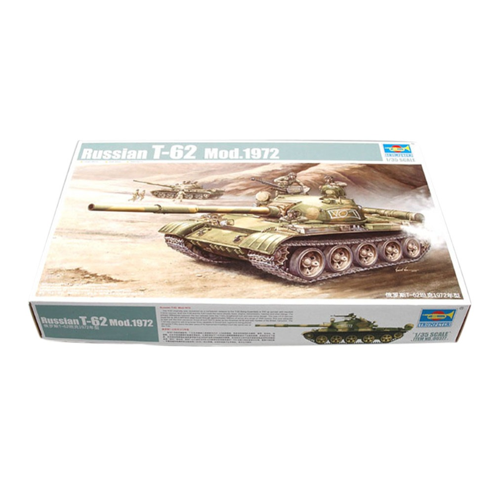 OHS Trumpeter 00377 1/35 Russian T62 Mod 1972 Scale Tank Assembly Model Building Kits oh недорого