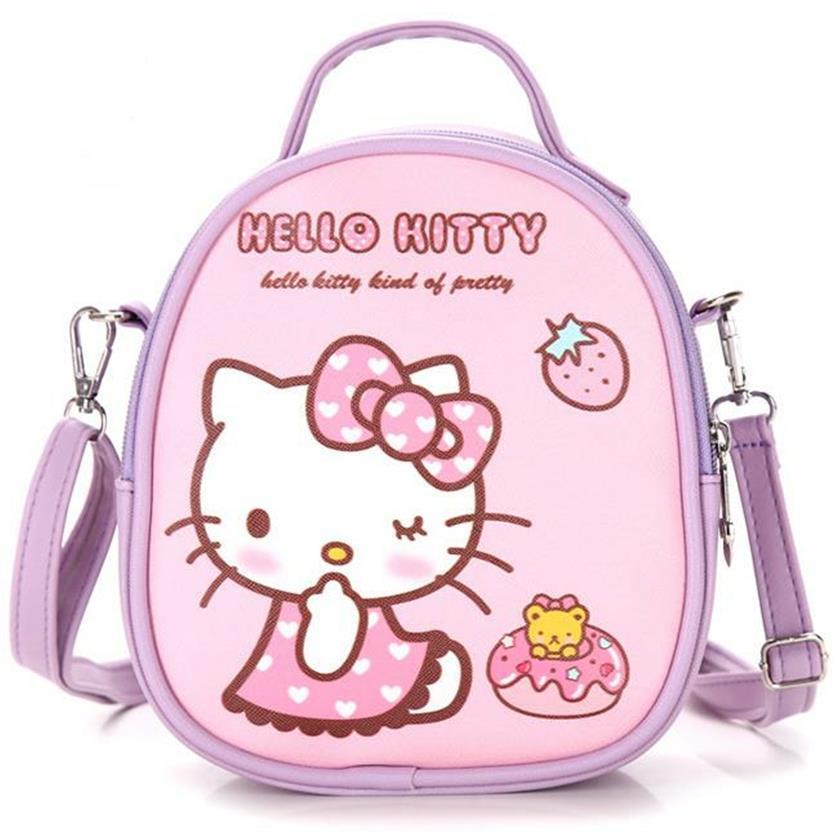 7675e9a82a New Cute Mini Bag Children Hello Kitty Handbag For Women Cartoon Cat PU  Waterproof Should Bag Kids Girls Fashion Messenger Bags-in Crossbody Bags  from ...