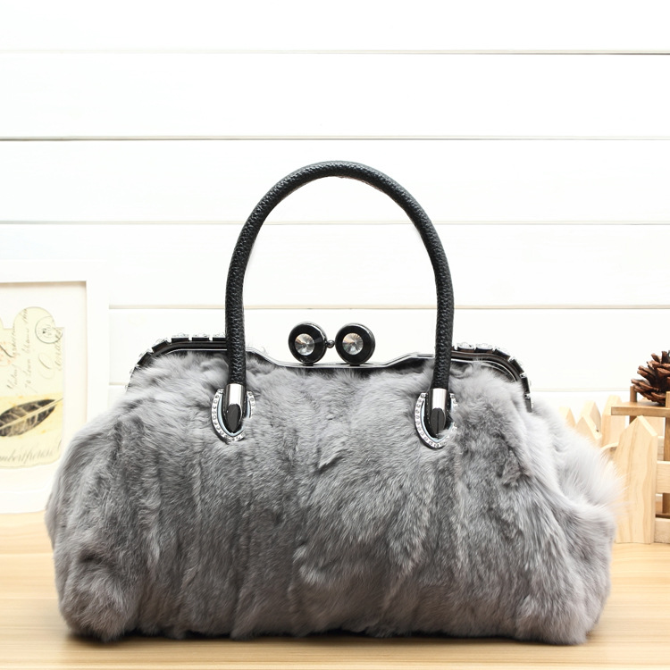 Winter Luxury Diamonds Messenger Bag Genuine Leather Handbags Fashion Woman Real Fur Bags For Ladies Women Tote Doctor Bag powers master handbook of ic circuits paper on ly