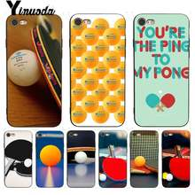 Yinuoda For iPhone 7 6 X Case Table tennis racket and ball Coque Shell Phone Case for iPhone 7 X 6 6S 8 Plus X 5S SE XR XS XSMAX(China)
