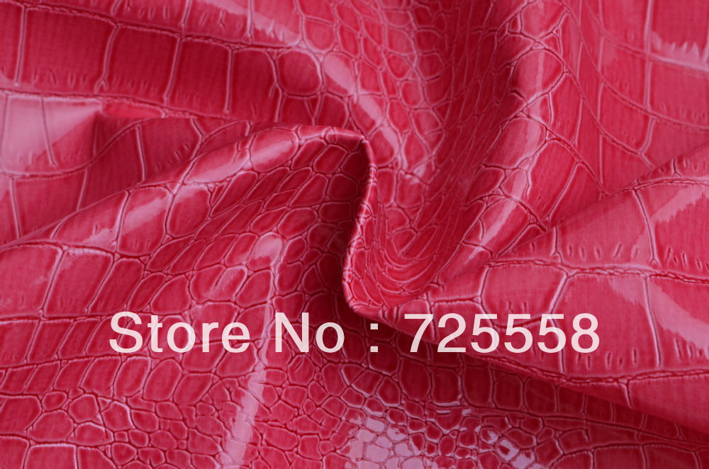 ,One Yard-Hot Pink Alligator Skin Vinyl Leather,Crocodile Faux Leather Fabric Upholstery,Upholstery Pleather, - Aimee store