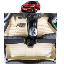 цена на free shipping leather car floor mat carpet rug for kia rio k2 pride Third generation (UB; 2011 2012 2013 2014 2015 2016