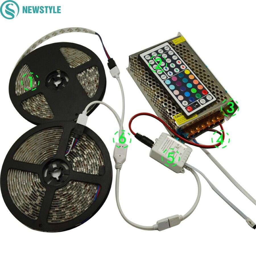 10m rgb led strip 5050 60leds m smd flexible diode tape. Black Bedroom Furniture Sets. Home Design Ideas