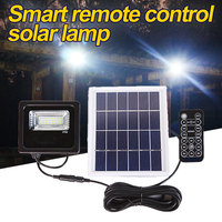 Solar Flood Light 10W 21LEDS Remote Control Outdoor Lighting Waterproof IP66 With Solar Panel LED Spotlights Garden Lamp