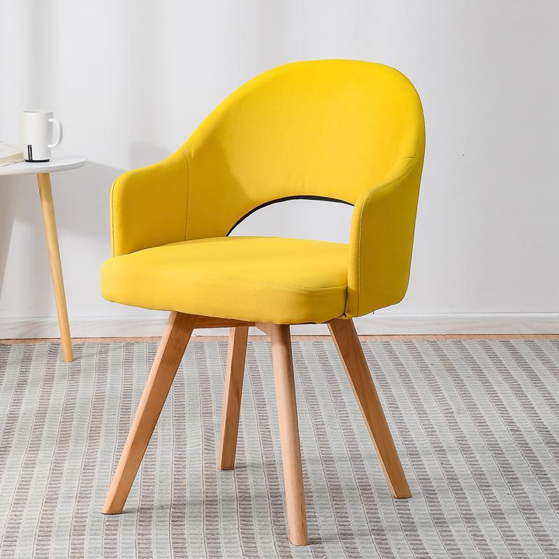 Современный простой стул для ленивых в скандинавском стиле, деревянный стул для ресторана, стул для обучения, простой стол и стул - Цвет: style 14