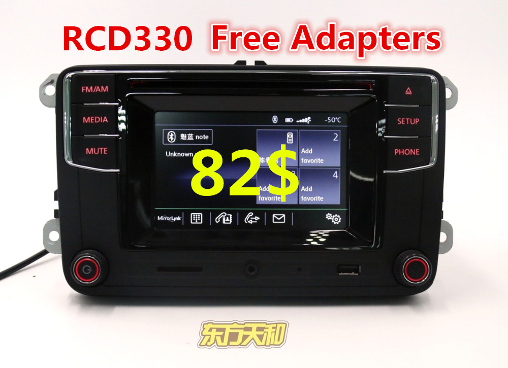 Car Radio Bluetooth Radio High Version MIB RCD510 RCN210 RCD330 G RCD330G For Golf 5 6