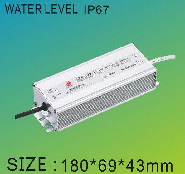 1ピース再販12ボルトdc 8.5a 100ワット高電源スイッチ電源用ledドライバ1.2キログラム/ピース送料無料 -