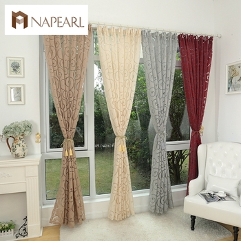 Fashion style jacquard fenster behandlungen cortinas luxus moderne ...