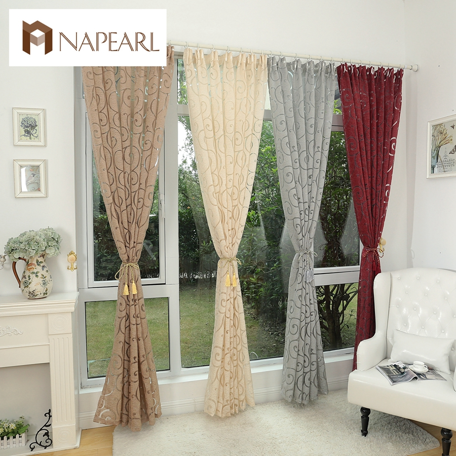 Fashion Style Jacquard Window Treatments Cortinas Luxury Modern Curtains For Living Room