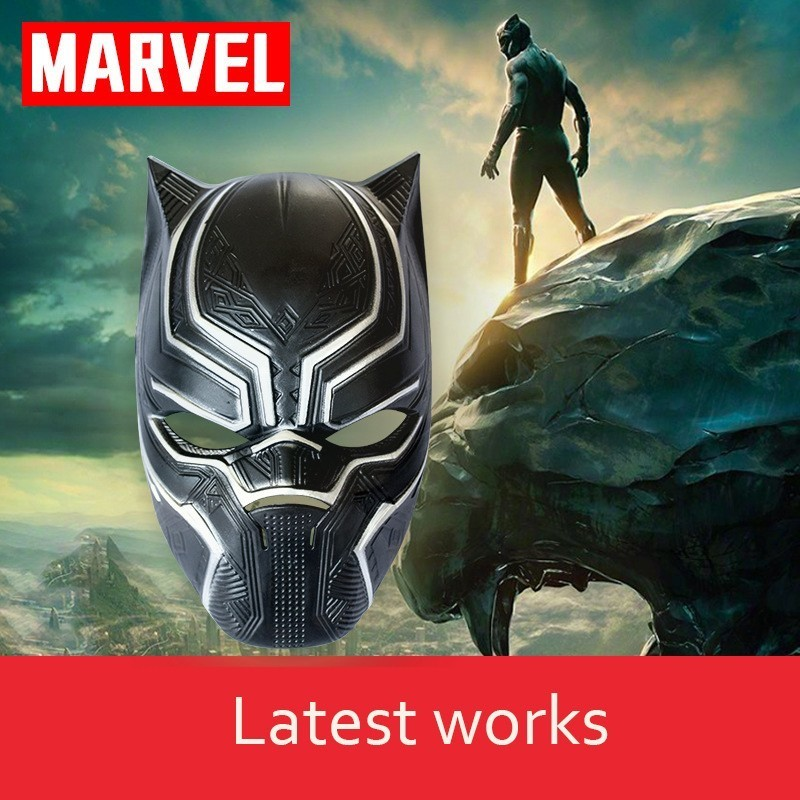 The Avengers Marvel Series Black Panther King Mask US Captain 3 Civil War Movie Surrounding Props Helmet COS Halloween Mask image