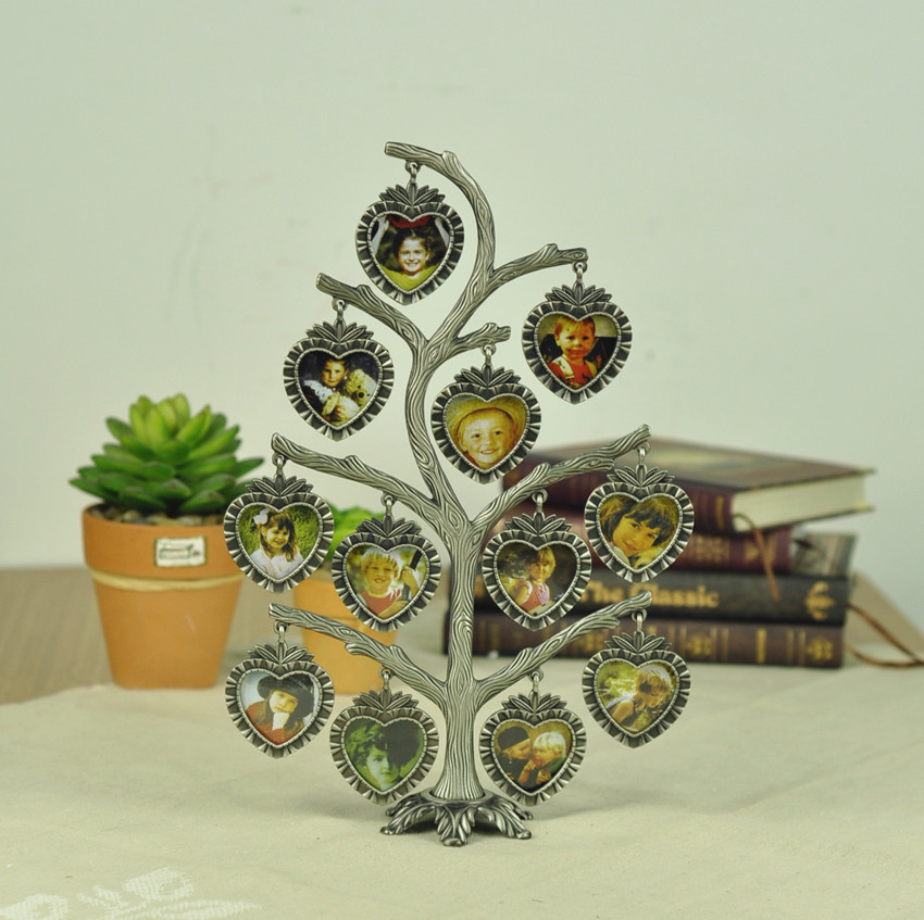 Family / Baby Tree Photo Frame Zinc Alloy Collage Picture