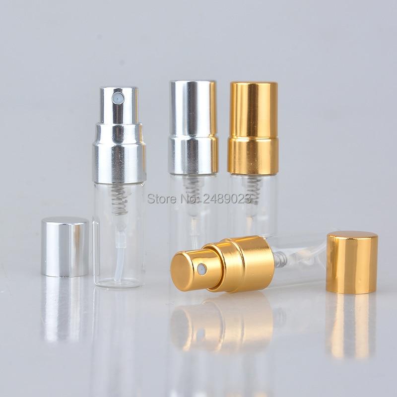 3ML 100 pcs Mini Perfume Bottle Clear Glass Spray Bottle Cosmetic Bottles Container Glass Spray Atomizers