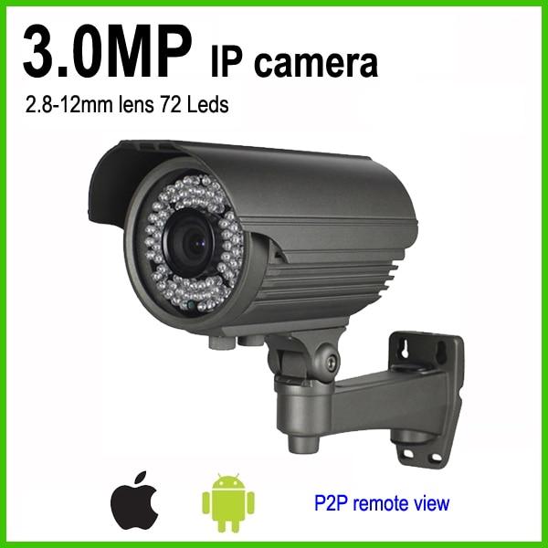H.265 HD 3mp bullet weatherproof surveillance outdoor PoE IP camera manual zoom lens 2.8-12mm multi language ip camera 4mp bullet security camera with poe network camera video surveillance 2 8 12mm zoom lens h 265 h 264