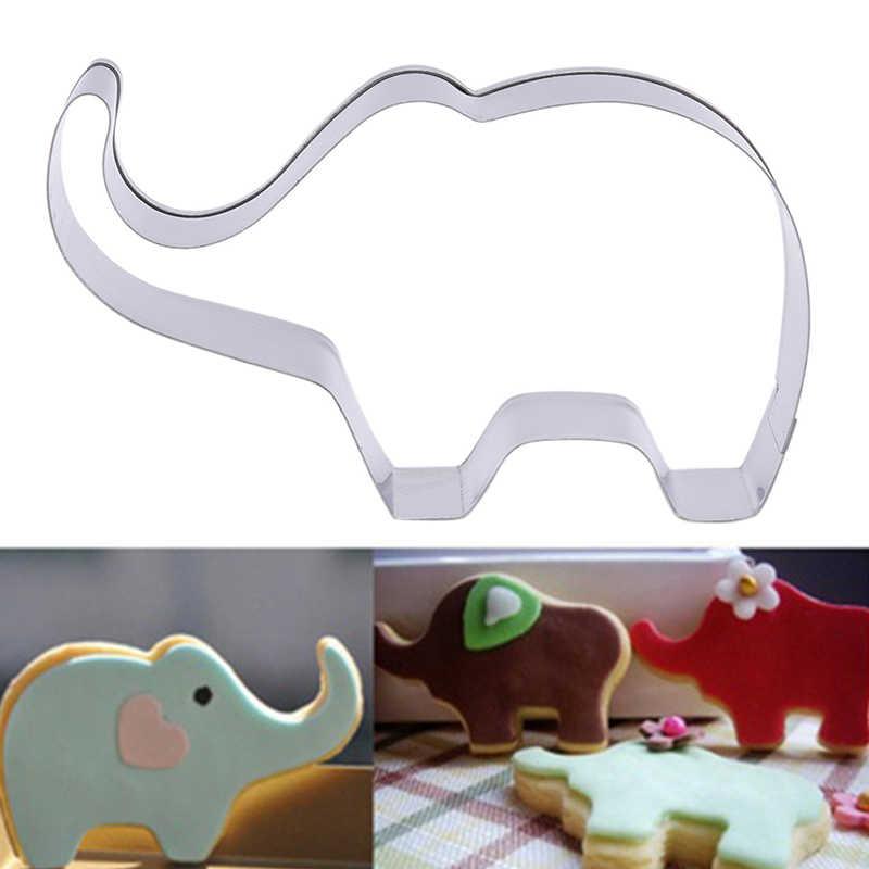 تصميم جديد قطع الفيل شكل كعكة فندان قالب الكعكة قوالب الفولاذ المقاوم للصدأ قاطعة البسكوت اكسسوارات المطبخ