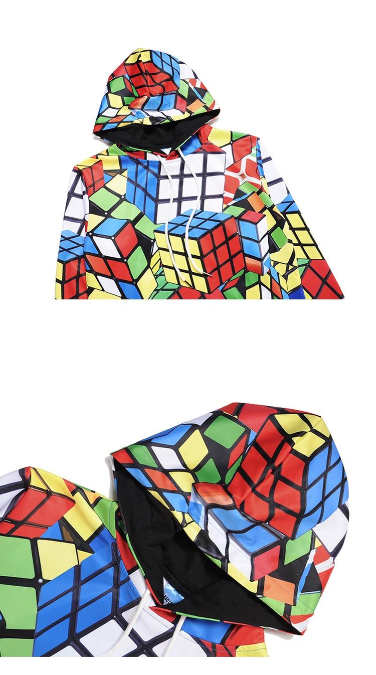 Men's Clothing New Arrivals Hoodie Sweatshirt Men Women 3d Hoodies Print Rubik Cube Thin 3d Sweatshirts Hooded Hoodies Hoody Tracksuits Tops Special Buy