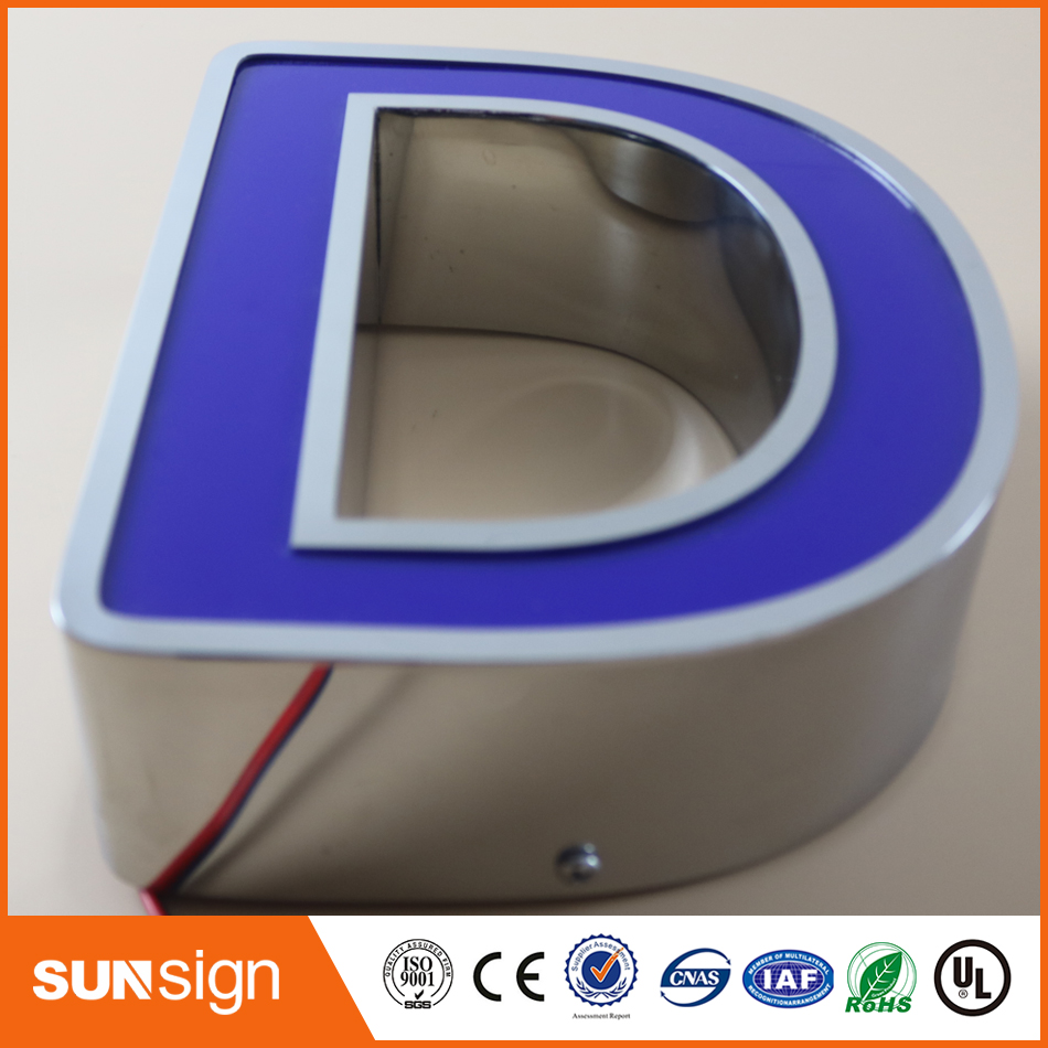 LED channel letters signs 3D outdoor customized illuminated signage