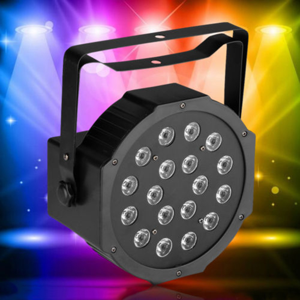 Hot Style 18 RGB LED Stage Light Disco DJ Bar Effect UP Lighting Show DMX Strobe