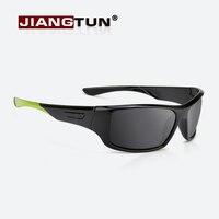 JIANGTUN Calidad gafas de Sol Polarizadas Gafas de Sol Polaroid Hombres Mujeres Marca Diseñador Conducción Lente Rojo Verde Pierna Oculos