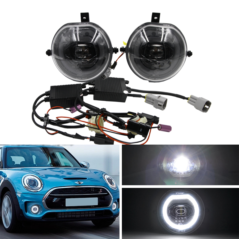 CAN bus Led Halo Ring DRL Parking Driving Fog Lamp Assembly Kits For Mini Cooper F55