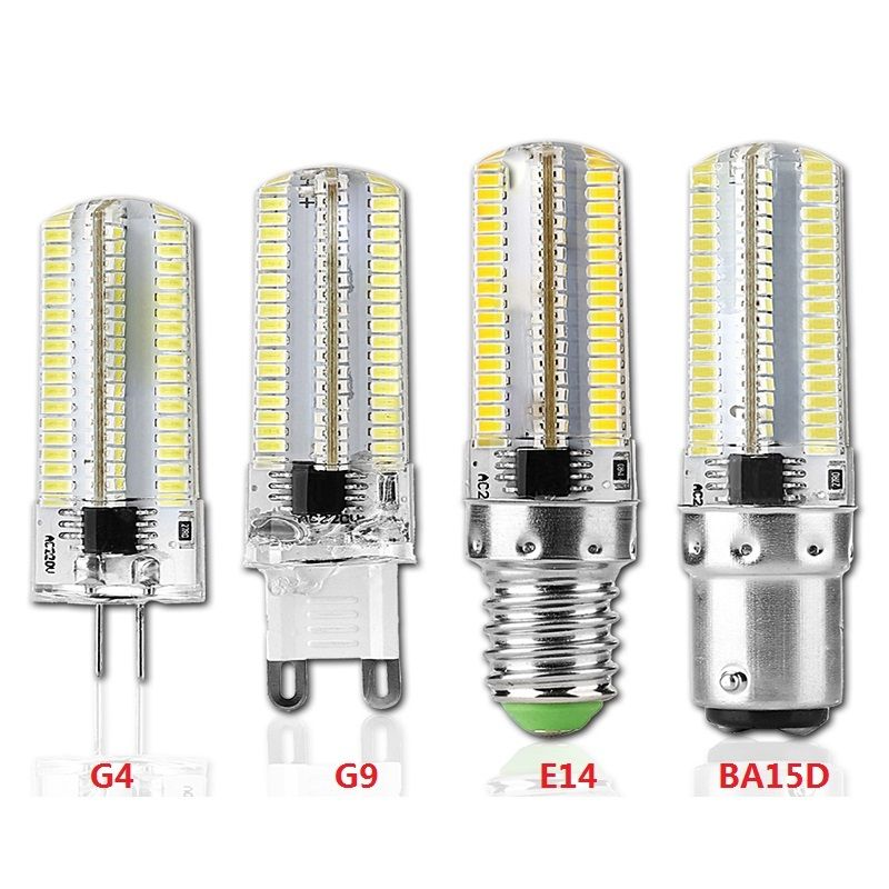 Dimmable LED G4 G9 E14 BA15D 9W 152-LED 3014 SMD Corn Bulb Light AC110V 220V