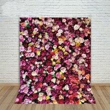 Colorido Amor Flor 3d Parede backdrop Computador impresso foto do casamento fundo do estúdio Vinil pano de Alta qualidade