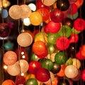2016 el más nuevo diseño dulce pony tono de con pilas luz de la secuencia bola de algodón luces, luz de Navidad, Boda, fiesta, Patio, Decoración de navidad