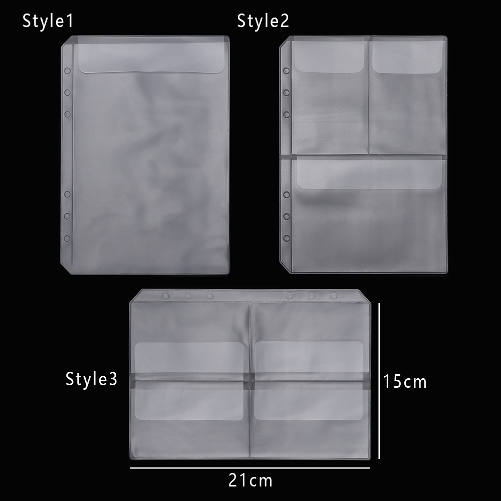 1 PC A5 Zip Lock PVC Loose-leaf Storage Pouches Bag Document Postcard Template Organizer Clear Resealable Concise Collection(China)