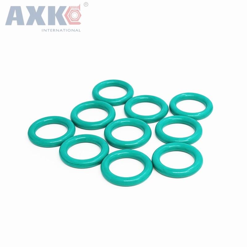 AXK 10pcs 2.5mm Thickness Green FKM Viton O Ring Seals Gasket 70727580859095100105110mm OD O-ring Sealing Washer