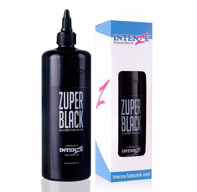 12oz (360ml) Tattoo Ink large bottle ZUPER BLACK 360ml