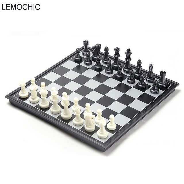 Lemochic New International Chess Set Three Sizes Board Wood Travel Pieces For And