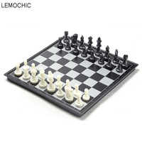 LEMOCHIC New International Chess Set Three Sizes Board Game Wood Travel Chess Pieces For Adult And